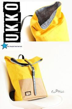 UKKO, backpack, sewing instructions- UKKO, Rucksack, Nähanleitung Sewing instructions and patterns for a trendy rolltop backpack â ™ ¥ ︎ Ideal for on the go – Sewing instructions with many pictures + cut parts for … - Diy Backpack, Travel Backpack, Backpack Tutorial, Crossbody Bag, Satchel, Tote Bag, Clutch Bag, Mochila Tutorial, Backpack Organization