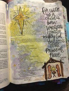 Isaiah Bible Art Journaling by Bible Drawing, Bible Doodling, Bible Art, Bible Quotes, Bible Verses, Bible Study Journal, Art Journaling, Isaiah Bible, Christmas Bible