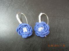 blue rose earring