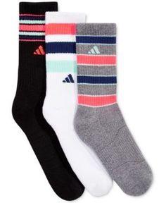 Adidas Womens 3-Pk. Retro Ii Crew Socks - White/Black/Onix ,Adidas Shoes Online,#adidas #shoes