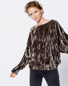 Pull&Bear - mujer - ropa - sudaderas - sudadera terciopelo - gris topo - 09590345-I2016