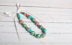 Nursing Necklace - Emerald Floral - The Vintage Honey Shop