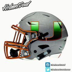 "New Miami Hurricane ""metal storm"" helmet design by Helmetsoul."