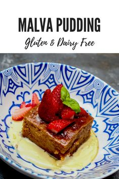 Do you have food intolerances but still want to indulge with one of South Africa yummiest dessert? You can with this delicious gluten & dairy-free version of Malva Pudding. Healthy Desserts, Delicious Desserts, Dessert Recipes, Gallette Recipe, Malva Pudding, Food Intolerance, South African Recipes, Gluten Free Recipes, Dairy Free