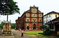 The Basilica of Bom Jesus is the most august and famous of all the churches in Old Goa. It contains the relics of St. Francis Xavier, Patron saint of Goa. Goa Travel, Travel Alone, Travel City, Italy Travel, Travel Destinations, Cruise Excursions, Shore Excursions, Places Around The World, Around The Worlds