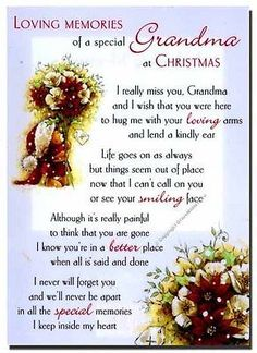 Grave Card / Christmas - Grandma - FREE Holder-CMX13 Grandmother Funerals in Home, Furniture & DIY, Home, Furniture & DIY | eBay