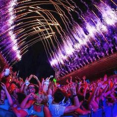 Firework tunnel #events #concerts