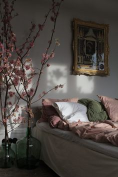 white green pink bedroom … – rustic home interior