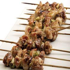 Ricetta Spiedini di pollo - yakitori
