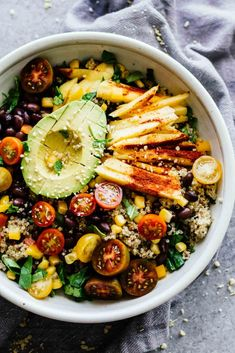 Chili Mango Zesty Quinoa Salad! Perfect summer salad!