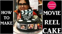 How to make Movie Reel Cake: Decorating tutorial Happy Birthday Sister Cake, 30th Birthday Cakes For Men, Cartoon Birthday Cake, Friends Birthday Cake, Animal Birthday Cakes, Frozen Birthday Cake, Happy Birthday Cakes, 40th Birthday, Cake Decorating For Beginners