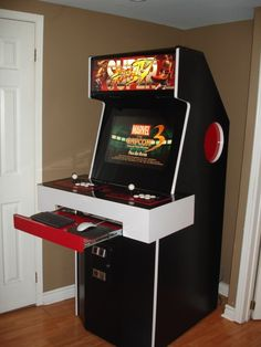 Show off your homemade consoles/arcade cabinets! Gaming Cabinet, Arcade Cabinet Plans, Nerd Room, Gamer Room, Coffee Table Arcade Machine, Mame Cabinet, Video Game Rooms, Video Games, Bartop Arcade