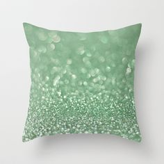 Seafoam bokeh Throw Pillow by Laura Ruth  - $20.00