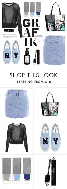 Zaful by helenevlacho on Polyvore featuring Joshua's, Christian Dior, Root Science, Burberry and zaful