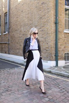 jane keltner de valle in a proenza schouler skirt // london fashion week via WWD.com