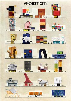 Gallery of ARCHIST: Illustrations of Famous Art Reimagined as Architecture - 1