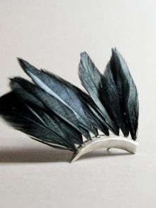 Black Feathers Earring | Dreams of Norway