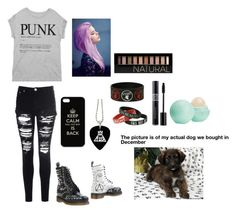 """Playing with my puppy"" by michaela0415 ❤ liked on Polyvore featuring Glamorous, Dr. Martens, Bershka, Forever 21, Eos, women's clothing, women, female, woman and misses"