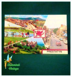 Vintage Prestatyn Postcard. Wales. Vintage Postcard. Collectors. Postcard. Collectible Postcard. by TinkerbellVintage on Etsy