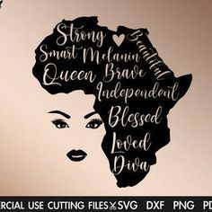 Black Love Art, Black Girl Art, Black Girls Rock, Black Is Beautiful, Black Girl Magic, Africa Silhouette, Black Woman Silhouette, Free Black Girls, Black Queen