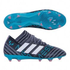 a3a57afe44b3 Weave through defenders with the Adidas Nemeziz Messi 17.1 FG  soccer  Cleats - Grey