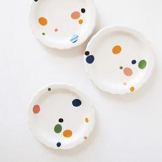 polkadot plates