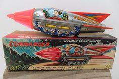 Rare Space Commander Atomic Constructor KO Yoshiya Toys Made Japan 1960's Box | eBay