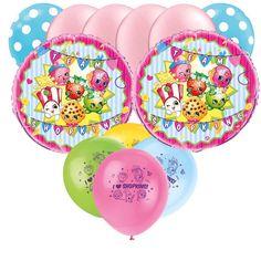Mylar Latex Party Balloon Set - Shopkins -  (12)