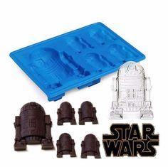 star wars r2-d2 forma de silicone para gelo ou chocolate