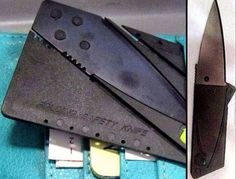 Credit Card Knife TSA claims they are seeing a lot of these now days, just so you know they are banned from flights, and not all that hard to find by TSA Airport Security, Hard To Find, People, Cards, Random Items, Random Pictures, Planes, Weapons, Cook