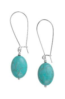 stella and dot: turquoise sea drop earrings