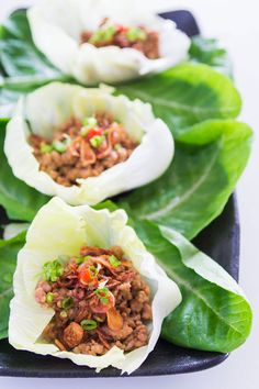 Lettuce Cups with Ground Chicken - love these and make them with ground turkey often