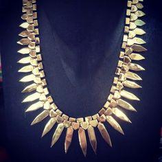 #Jagger Necklace in gold - #designer #jewelry www.lunaandzarr.com