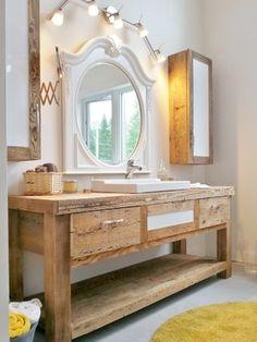 16 meilleures images du tableau vanité bois | Bathroom, Master ...