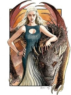 Game of Thrones - Daenerys Targaryen by Daniel Govar