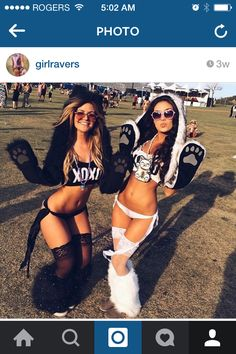 Black and white rave EDM outfits