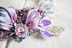 Shibori necklace shibori silk jewelry OOAK by ByMimmiShop on Etsy