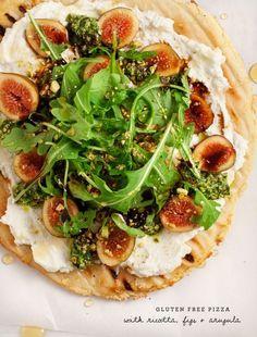 Gluten Free Fig & Ricotta Flatbread Pizza