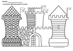 Home Decorating Style 2020 for Coloriage Magique Maternelle, you can see Coloriage Magique Maternelle and more pictures for Home Interior Designing 2020 at Coloriage Kids. Castles Topic, Chateau Moyen Age, French Teaching Resources, Medieval Crafts, Grande Section, 4th Grade Art, Château Fort, Cool Art Projects, Painted Paper