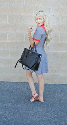 Dress - Tailor & Stylist | Purse - Ily Couture | Shoes - TJMaxx | Necklace - Bip & Bop | Bracelet - Bip & Bop | Sunglasses - Windsor