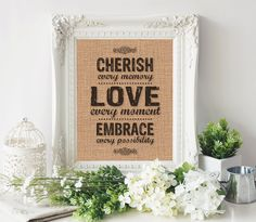 Burlap Printable, Burlap Print, PRINTABLE QUOTE, Printable Wall Art, Instant Download, Inspirational Print, Life Quote, Typography Print by SmudgeCreativeDesign on Etsy