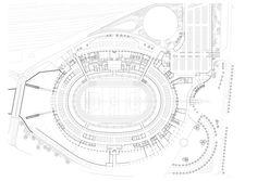 Moses Mabhida Stadium by GMP Architekten - Durban. Stadium Architecture, Sports Stadium, Site Plans, Dezeen, Thesis, South Africa, Exercise, Ejercicio, Excercise