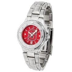 NCSU Wolfpack Women's Stainless Steel Dress Watch