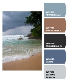 Instantly turn any picture into a palette with ColorSnap, created for you by Sherwin-Williams. Office Color Schemes, Paint Color Schemes, Paint Colors, Blue Colour Palette, Colour Palettes, Home Wall Colour, Color Pallets, Color Patterns, Denim Paint
