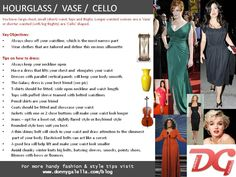 how to dress the vase/hourglass shape