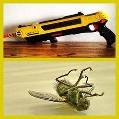 Bug A Salt Gun: Kills pesky flies and bugs with a single shot! Get it HERE: http://www.thegiftsformen.com/bug-a-salt-gun.php