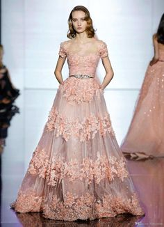 2016 Zuhair Murad Lace Evening Dresses Long New Sheer Short Sleeves Tulle Lace Applique Floral A Line Beaded Party Prom Dresses J1123 Online with $484.82/Piece on Caradress's Store | DHgate.com