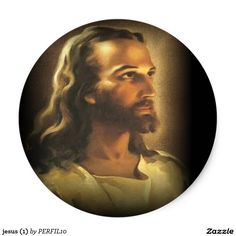 Jesus (1) classic round sticker