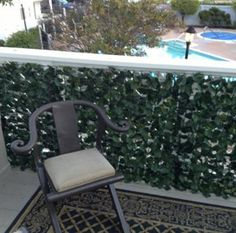 My husband and I just moved into a new house with a deck. The deck is kind of exposed to the view of the neighbors because it's so high up, and I want to put something in for privacy. This faux ivy screen would be perfect, and I love the natural and green look it gives!