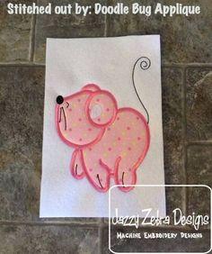 Mouse 101 Applique Design: Jazzy Zebra Designs